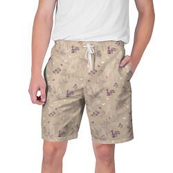 Шорты на шнурке мужские Бэмби цвета 3D-принт — фото 1
