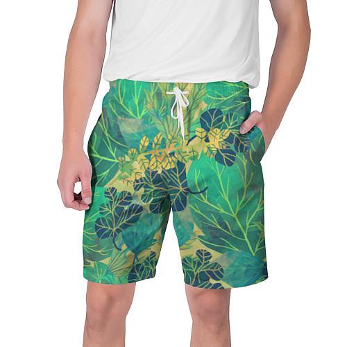 Мужские шорты Узор из листьев / 3D – фото 1