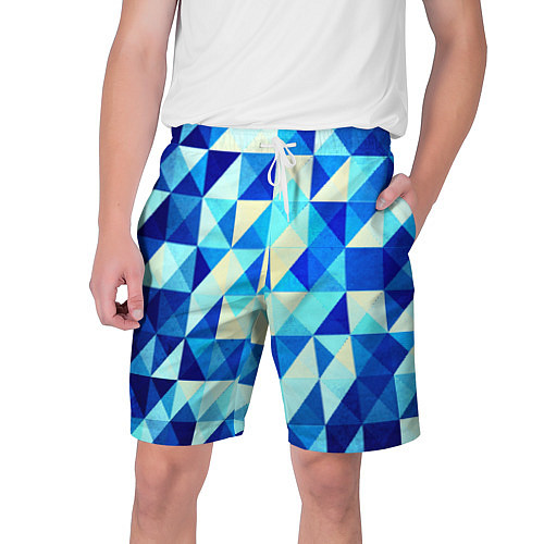Мужские шорты Синяя геометрия / 3D – фото 1