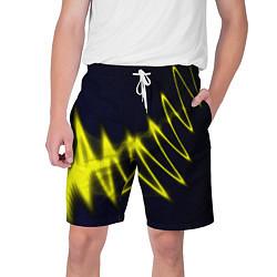 Шорты на шнурке мужские Молния цвета 3D — фото 1