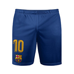 Шорты спортивные мужские FCB: Lionel Messi 2018 цвета 3D-принт — фото 1