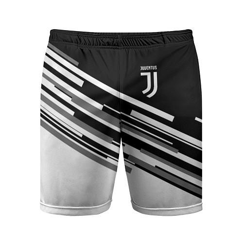 Мужские спортивные шорты FC Juventus: B&W Line / 3D – фото 1
