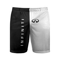Шорты спортивные мужские Infiniti: Black & White цвета 3D — фото 1