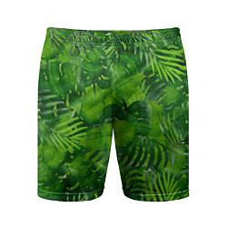 Шорты спортивные мужские Тропический лес цвета 3D — фото 1