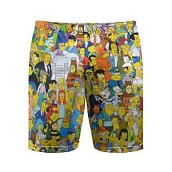 Шорты спортивные мужские Simpsons Stories цвета 3D — фото 1