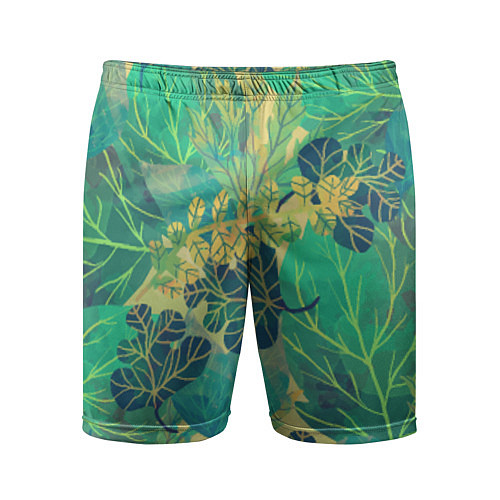 Мужские спортивные шорты Узор из листьев / 3D – фото 1