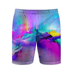 Шорты спортивные мужские Абстракция цвета 3D — фото 1