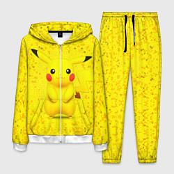 Костюм мужской Pikachu цвета 3D-белый — фото 1