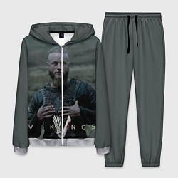 Костюм мужской Vikings: Ragnarr Lodbrok цвета 3D-меланж — фото 1
