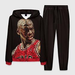 Костюм мужской Michael Jordan цвета 3D-красный — фото 1