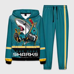 Костюм мужской San Jose Sharks цвета 3D-черный — фото 1