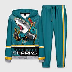 Костюм мужской San Jose Sharks цвета 3D-меланж — фото 1