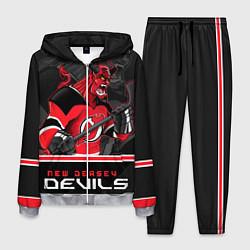 Костюм мужской New Jersey Devils цвета 3D-меланж — фото 1