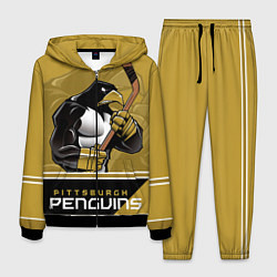 Костюм мужской Pittsburgh Penguins цвета 3D-черный — фото 1