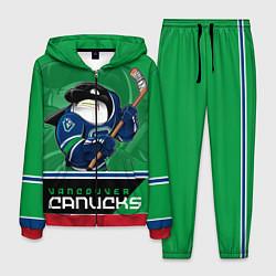 Костюм мужской Vancouver Canucks цвета 3D-красный — фото 1
