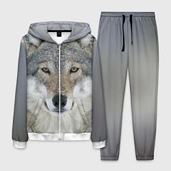Костюм мужской Милый волк цвета 3D-белый — фото 1