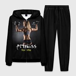 Костюм мужской Fitness for life цвета 3D-черный — фото 1