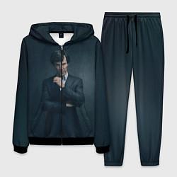 Костюм мужской Шерлок в костюме цвета 3D-черный — фото 1