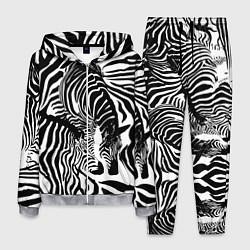 Костюм мужской Полосатая зебра цвета 3D-меланж — фото 1