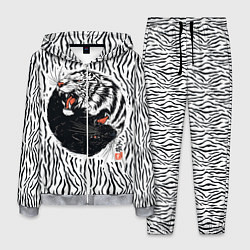Костюм мужской Yin Yang Tigers цвета 3D-меланж — фото 1