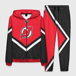 Костюм мужской NHL: New Jersey Devils цвета 3D-красный — фото 1