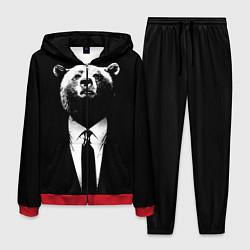 Костюм мужской Медведь бизнесмен цвета 3D-красный — фото 1