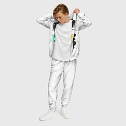 Костюм мужской Единорог астронавт цвета 3D-белый — фото 2