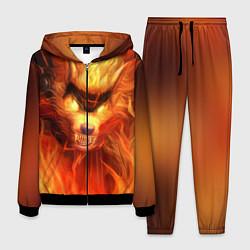 Костюм мужской Fire Wolf цвета 3D-черный — фото 1