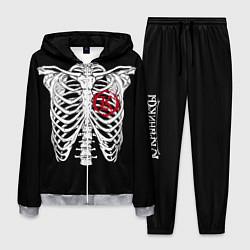Костюм мужской Кукрыниксы: Скелет цвета 3D-меланж — фото 1