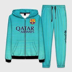 Костюм мужской Barcelona FC: Aqua цвета 3D-черный — фото 1