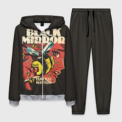 Костюм мужской Black Mirror: Nated Nation цвета 3D-меланж — фото 1