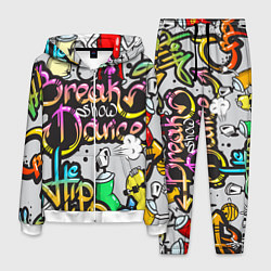 Костюм мужской Break Show Dance цвета 3D-белый — фото 1