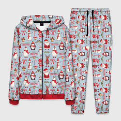 Костюм мужской Рождественская Милота цвета 3D-красный — фото 1