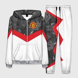 Костюм мужской Man United FC: Grey Polygons цвета 3D-меланж — фото 1