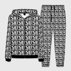 Костюм мужской BTS K-pop pattern цвета 3D-черный — фото 1