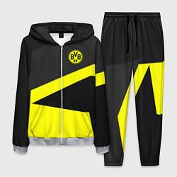 Костюм мужской FC Borussia: Sport Geometry цвета 3D-меланж — фото 1