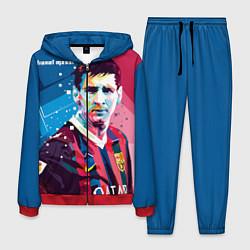 Костюм мужской Lionel Messi цвета 3D-красный — фото 1