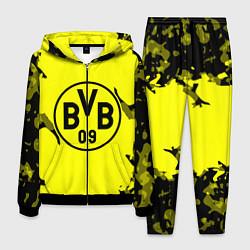 Костюм мужской FC Borussia Dortmund: Yellow & Black цвета 3D-черный — фото 1