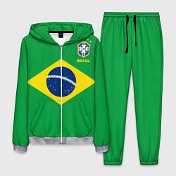 Костюм мужской Сборная Бразилии: зеленая цвета 3D-меланж — фото 1
