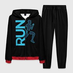 Костюм мужской RUN: Black Style цвета 3D-красный — фото 1