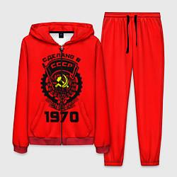 Костюм мужской Сделано в СССР 1970 цвета 3D-красный — фото 1
