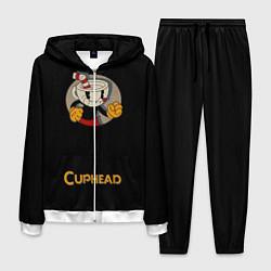 Костюм мужской Cuphead: Black Mugman цвета 3D-белый — фото 1