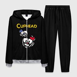 Костюм мужской Cuphead: Mugman Faces цвета 3D-меланж — фото 1