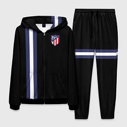 Костюм мужской FC Atletico Madrid: Blue Line цвета 3D-черный — фото 1