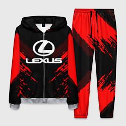 Костюм мужской Lexus: Red Anger цвета 3D-меланж — фото 1