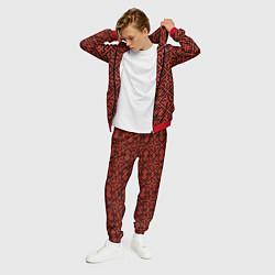 Костюм мужской Духобор: Обережная вышивка цвета 3D-красный — фото 2
