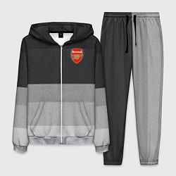 Костюм мужской ФК Арсенал: Серый стиль цвета 3D-меланж — фото 1