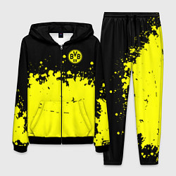 Костюм мужской FC Borussia Sport цвета 3D-черный — фото 1