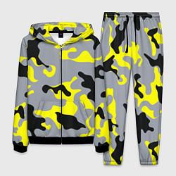 Костюм мужской Yellow & Grey Camouflage цвета 3D-черный — фото 1