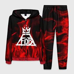 Костюм мужской Fall Out Boy: Red Flame цвета 3D-красный — фото 1